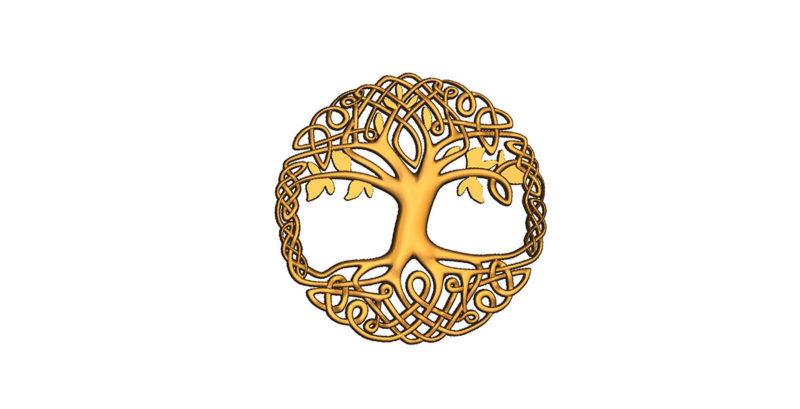 cnc Hayat ağacı kolyesi