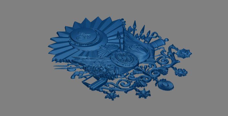 3d Osmanlı amblemi çizimi